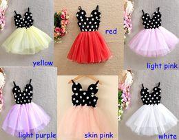 Wholesale Minnie Vest - 2016 Girls Minnie Dresses princess dress girls lace vest skirt gauze dress girl tutu dress summer dress skirt Kids' Christmas Dress 2-8T