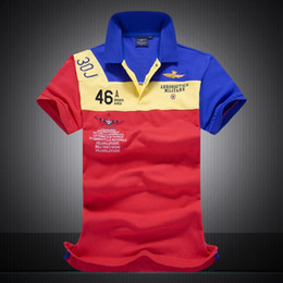 bf10c8749ff4 New brand polo shirts men short cotton polos aeronautica militare men polo  shirt air force 6 color Male Clothing