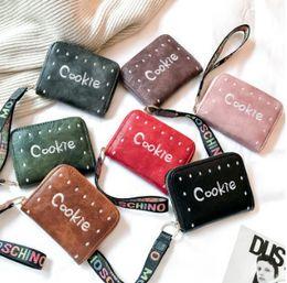 Wholesale Princess Coin - Children bag fashion kids polka dots embroidery coins purse girls colorful letter ribbon princess handbag christmas children gift R1491