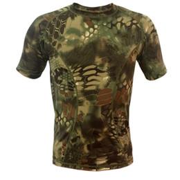 Argentina Al por mayor-Nueva piel de secado rápido Python Camouflage T-shirt Hombres Mujeres Camuflaje al aire libre de manga corta Hombres Camiseta de malla transpirable cheap python shirt Suministro