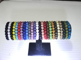 Pulseras de bolas brillantes online-Crystal 20 Beads Bracelets Disco Ball brillante Pulseras elásticas Brazalete de la joyería Cheap China Jewelry wrap charm pulseras 60 unids