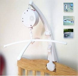 Wholesale Hanging Bell Toys - New update Electric Bed Bell set Music Mobile with arm musical bed bell crib stand kid bed toys