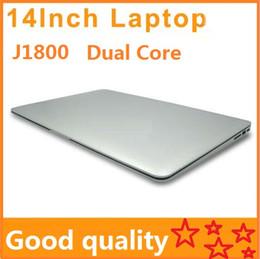 Wholesale Mini Notebook 2gb - 14 inch Laptops Notebook Intel Dual Core HDMI laptops J1800 Win Seven 2GB 160GB 250G 320G Cheap Mini laptop Computer PC