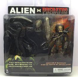 Wholesale Alien Toy Neca - Hot sale NECA Alien VS Predator Tru Exclusive 2-Pack PVC Action Figure best christmas gift Toy Free shipping