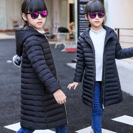 Wholesale Girl S Long Coat Down - Children's clothing children outerwear down jacket for girl 2016 new kids winter jackets clothes long hooded cuhk coat parka