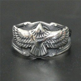 Wholesale Eagles Jewelry - 3pcs lot New Arrival Silver Flying Eagle Ring 316L Stainless Steel Fashion jewelry Cool Popular Biker Style Ring