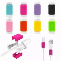 Универсальная кабельная заставка Зарядное устройство синхронизации данных USB Наушники Кабель Спаситель Защитный чехол Хранители для iphone X XS MAX XR 8 7 7s 6 6s plus от Поставщики защитный кабель для передачи данных