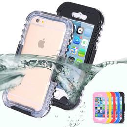 2019 telefoni a prova d'urto d'acqua IP-68 Custodia subacquea impermeabile resistente per il nuoto ibrido per iPhone 6 Custodia protettiva impermeabile per iPhone 6 da 4,7 pollici 6S / sporco / antiurto per iPhone6 telefoni a prova d'urto d'acqua economici