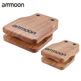 Wholesale Wholesale Drum Accessories - Wholesale- ammoon 2pcs Cajon Box Drum Large & Medium Companion Accessory Castanets for Hand Percussion Instruments