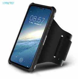 Wholesale Iphone Phone Sport Shell - Outdoor Sports Running Armband Mobile Phone Case for iPhone X 8 7 Magnet Suckers Full Cover Phone Shell for Samsung Note8 S8 S8plus