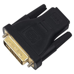 Wholesale 24 pin adapter - DVI -D 24+1 PIN TO HDMI FEMALE 19PIN adapter gold plate dvi to hdmi adapter 100pcs