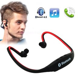 Wholesale S Headphones Blue - Headphone S9 S-9 Wireless Stereo Headset Sports Bluetooth Speaker Neckband Earphone Bluetooth 4.0 With Retail Package 20 Pieces UP DHL