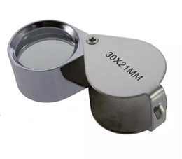 Wholesale Jeweler Magnify Glasses - 30x 21mm Glass Magnifying Magnifier Jeweler Eye Jewelry Loupe Loop 360 pieces up