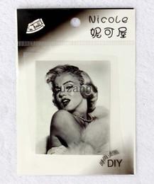 Wholesale Wholesale Superhero Patches - New 100pcs DIY Marilyn Monroe logo Classic transfer patch Iron on heat Batman Superheroes For t shirts caps