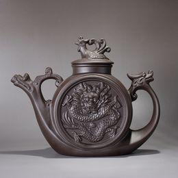 Wholesale Ceramic Stock Pots - Purple sand teapot,Traditional Chinese Tea pot Dragon and Phoenix Tea kettle Premium tea infuser purple clay tea set