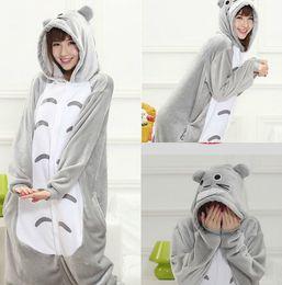 Wholesale Totoro Halloween Costume - Halloween Lovely Totoro Cheap Silver Easily Kigurumi Pajamas Anime Pyjamas Cosplay Costume Adult Unisex Onesie Dress Sleepwear