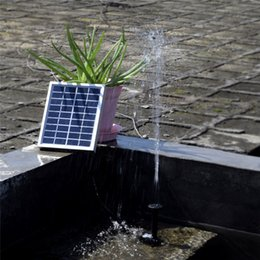 water fountains pump Coupons - Solar Pump Landscape Pool Garden Fountains 9V 2W Solar Power Decorative Fountain Water Pumps Submersible Watering display