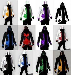 Wholesale kenway coat - Free Shipping Hot Sale Assassins Creed 3 III Conner Kenway Hoodie Coat Jacket Anime Cosplay Assassin's Costume Cosplay Overcoat