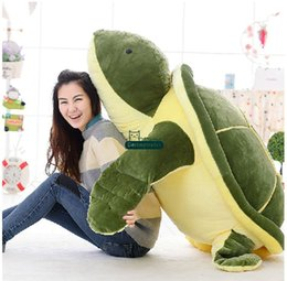 Wholesale Turtles Doll - Dorimytrader New Huge 59''   150cm Jumbo Stuffed Tortoise Doll Soft Plush Giant Animal Turtle Toy Nice Baby Gift Free Shipping DY60824