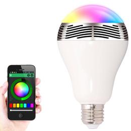 Wholesale Colorful Light Bubble - Phone Control Colorful Music LED Light Bulb Bluetooth Speaker 2 IN 1 Portable Music Smart RGB Bubble Lamp
