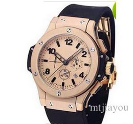 Wholesale Big Bang Case - Rose gold case big bang date drop ship brand New Fashion automatic Mechanical Wristwatches men watch Luxury Stainless steel Men's Watches