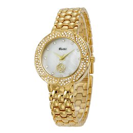 Wholesale Watches Brass Case - New Fashion Style Women man Watch Lady Watch silver case Diamond Steel Bracelet Chain Luxury lovers Watch High Quality free box for belbi