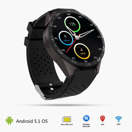Wholesale Andriod Phones 3g - KW88 Smart Watch UHD AMOLED 1.39Inch Screen Phone Watch Google Service Heart Rate Pedometer Camera WiFi GPS 3G Smart Watch For Andriod & IOS