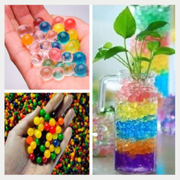 Wholesale Magical Flower - 1000pcs Cheap Price Magical Water Plant Jelly Crystal Soil Mud Hydro Pearls Beads Balls Flower Plant Decor