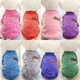 Wholesale Knitted Dog Sweaters - Classics Pet Dog Sweater Coat Clothes Autumn Warm Defensive Cold Cotton Puppy Cat Knitting Dogs Sweatershirt Apparel