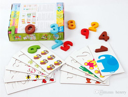 Wholesale Digital Learning Toys - Wooden count digital card. children's toys, digital matching puzzles. Early Learning Enlightenment understanding of digital