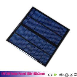 Wholesale Solar 3w Phone - A polycrystalline silicon solar cells 12V 3W 145x145x3mm High Efficiency Mini Solar Panel Module Solar Charger for Phone