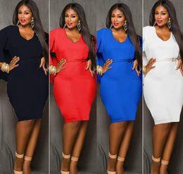 Wholesale Poncho Cape Dress - Red Blue Black White Plus Size Cape Dress Fashion Women O Neck Poncho Cloak Dress Batwing Sleeve Bodycon Sexy Knee Length Party Dress L-XXXL