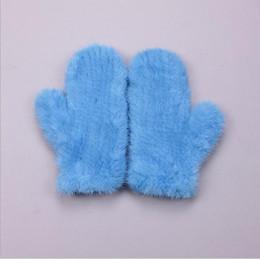 Wholesale Fingerless Elastic Gloves - Wholesale- Winter Warm Gloves 100% Real Mink Fur Gloves Fashion Women's Luxury Mink Fur Knitted Elastic Net Thermal Mittens AG-40