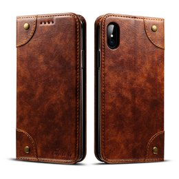 Wholesale Flip Mobiles - Phone Case for iPhone x High Quality PU Leather Case Magnetic Flip case Mobile Phone back cover with Card Holder