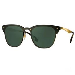 Wholesale Hinge Boxes - Newest Designer 3576N Club Fashion Sunglasses Men Sun Glasses Women Retro Green G15 Mercury lens New Hinge with Original Leather Box