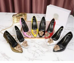 Chaussures de marque de luxe pour femmes Medusa talons hauts noir en cuir véritable Pointu Toe Pumps femme Robe de soirée chaussures ? partir de fabricateur