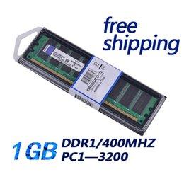 Wholesale Ram 1g Ddr - free shipping PC DDR1 1gb PC3200 400MHz DIMM 184PIN DDR1 400 Mhz desktop memoria ram DDR 1G 400MHZ 184Pin 2.6V