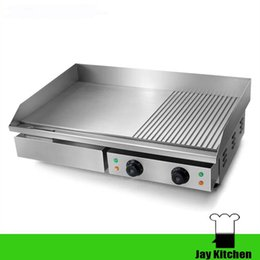 Wholesale Griddles Electric - Electric griddle commercial pancake pan 220v cast iron griddle Dorayaki machine electric grill and griddle 10mm thick plate