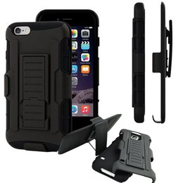 rugged cases belt clip Promo Codes - Hybrid Hard Case for iPhone 7 7S 6 6S Plus Belt Clip Holster with Kickstand Swivel Holder Rugged Cover for Samsung Galaxy S6 S7 Edge