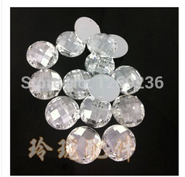 Wholesale Dresses Loose Beads - 800pcs 8mm Round sew on Acrylic Crystals silver Colour 2 holes flatback loose Beads hand sewing for dress