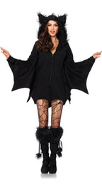 Wholesale Vampire Bat Costumes - Bat Girls Jumpsuit New Women Sexy Halloween Stage show Cosplay Party Vampire Costumes Devil Cosplay Costume Bodysuit