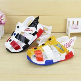 Wholesale Cartoon Shoes For Toddlers - Summer Baby Infant Shoes for Baby Boys Girls Wings Leather Moccasins First Walkers Sandals Kids Cartoon Toddler Shoes Baby Moccs Beach Shoes