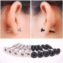 Wholesale Rhodium Stud Earrings - Design Jewelry Wholesale 2016 Gold Plated Beads Mini Stud Earrings Screws Crystal Stud Earrings For Women New Design Earrings