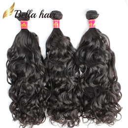 Wholesale cambodian weave extensions - Bella Hair 8A Virgin BrazilianHair Weave Natural Wave Cambodian Peruvian Malaysian Indian Remy Hair Extensions Natural Color Human Hair