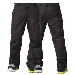 Wholesale Thermal Outdoor Pants Women - Wholesale- Gsou Snow -30 Degree Ski Pants Men Winter Thermal Breathable Snowboard Pants Waterproof 10000mm Outdoor Snow Trousers Plus Size