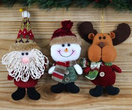 куклы санта-клауса Скидка Висит Рождественская кукла Санта-Клаус ткань кулон рождественские украшения аксессуары Рождественская ткань куклы Санта-Клауса подарок