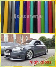 Vari colori Vinile ultra lucido per rivestimento avvolgente per auto con rilascio d'aria con 3 strati Colla a bassa aderenza qualità 3M Dimensioni 1,52x20m / rotolo da