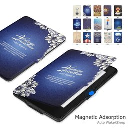 Wholesale Paperwhite Cases - For Kindle Paperwhite PU Leather Case Ultra Slim Protective Shell Cover with Auto Wake Sleep Function For Kindle oasis voyage 2016 Opp Bag