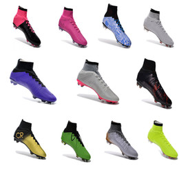 Wholesale Cheap Green Lady Boots - 2016 FG men's football shoes, all kinds of color football shoes, football shoes ladies, cheap outdoor men's football boots, the mos