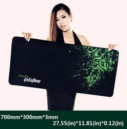Wholesale Free Mouse Mats - New Rubber Razer Goliathus Mantis Speed Game Mouse Pad Mat Large XL Size 700*300*3MM Free Shipping
